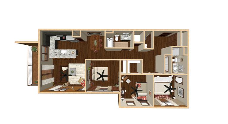 Workforce Condo 3 Bed Floorplan