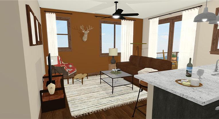 Workforce Condo 3 Bed Living