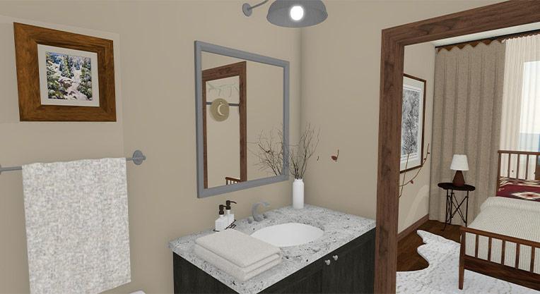 Workforce Condo 3 Bed Master Bath